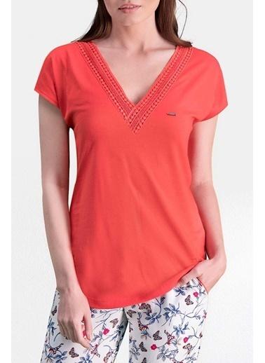 Pierre Cardin Pierre Cardin Nar Kadın Pijama Takımı Kırmızı